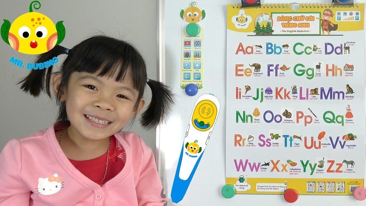 image Bé Học Bảng Chữ Cái Tiếng Anh Với Bút Biết Nói Mr. Bubino Tập 1 ❤ AnAn ToysReview TV ❤
