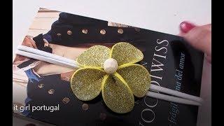 marcador de livro - Flor em EVA -  it girl portugal