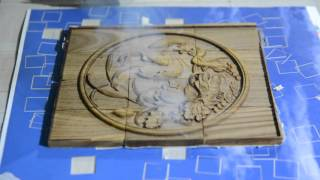 FEELTEK 3D laser engraving relief ( wood 3D relief by laser engraving)