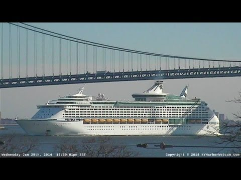 EXPLORER OF THE SEAS Return to New York Harbor & Bayonne NJ : 01-29-2014