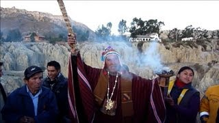 Bolivian natives celebrate the New Year 5520 with ceremonies