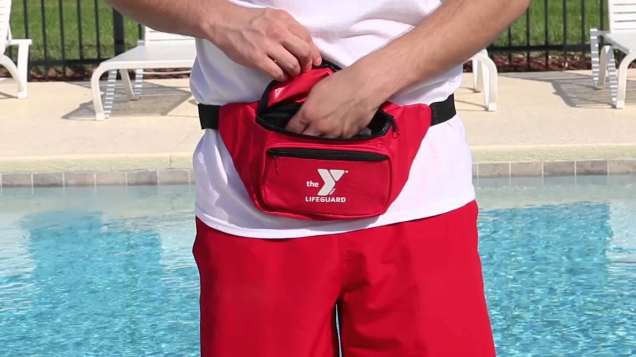c5aae2098ca YMCA LIFEGUARD HIP PACK - 3 POCKETS - YouTube