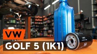 Hvordan bytte oljefilter og motorolje der på VW GOLF 5 (1K1) [AUTODOC-VIDEOLEKSJONER]