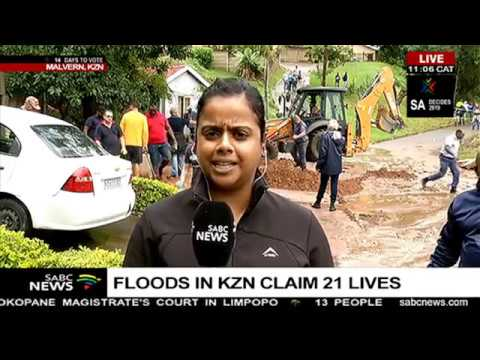 UPDATE: Floods in KZN have claimed 21 lives