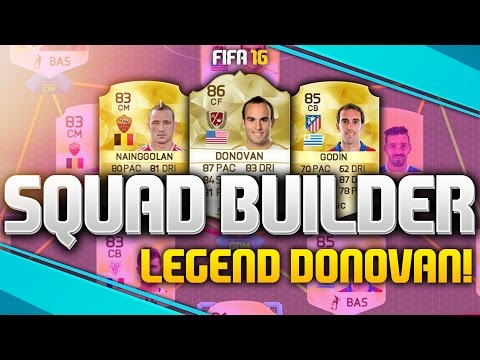 FIFA 16 - AWESOME LEGEND DONOVAN HYBRID SQUAD BUILDER! (FIFA 16 ULTIMATE TEAM)