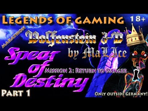 Wolfenstein 3D Spear of Destiny Mission 2: Return to Danger (SoD4SDL) Marathon - Part 1