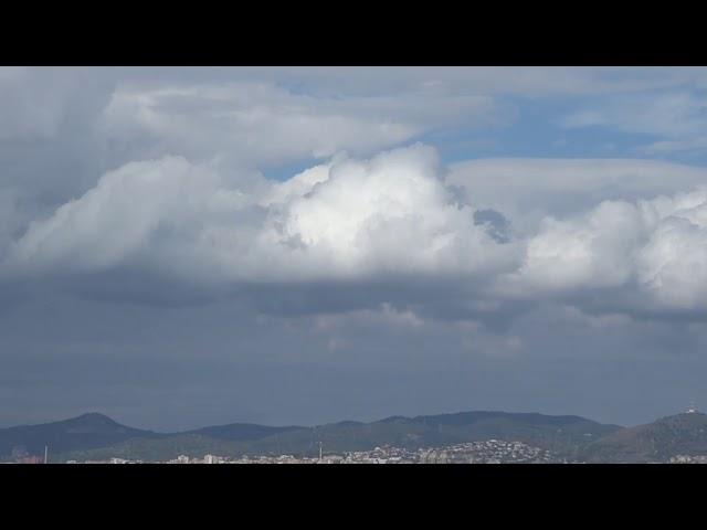 Filera de cúmuls potents damunt la Serralada Litoral - Aeroport del Prat - Octubre 2019