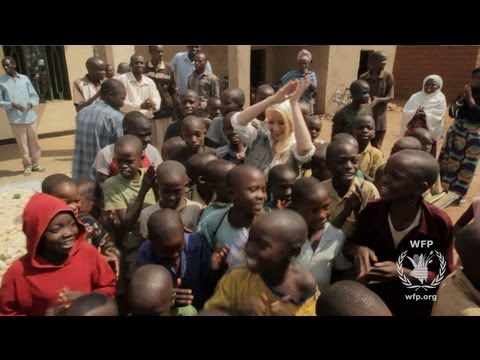 Christina Aguilera in Rwanda - World Hunger Relief 2013