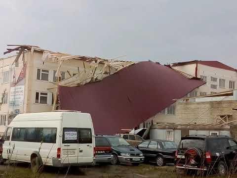 В городе Усинске, Республика Коми прошол ураган.