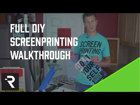 DIY Screen Printing How To Instructional Video v2 from the DIY Print Shop