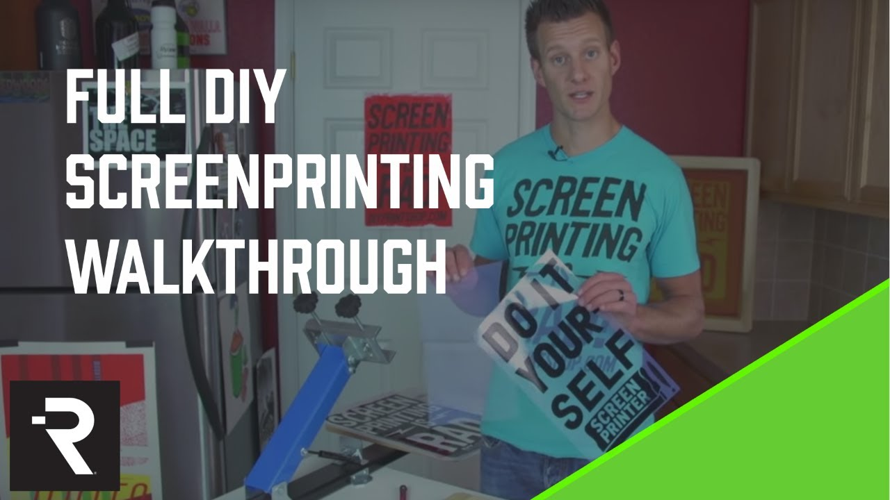 Diy Screen Printing How To Instructional Video V2 From The