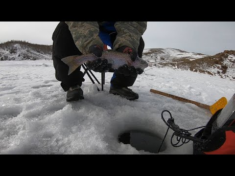 Ice Fishing At Tarryall Reservoir, CO!