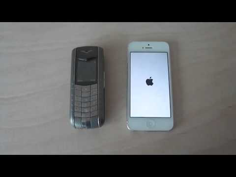 iPhone 5 vs Vertu Ascent ferrari:Boot Speed Test (4K Video)