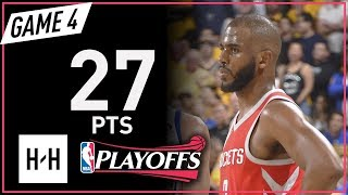 Chris Paul Full Game 4 Highlights Rockets vs Warriors 2018 NBA Playoffs WCF - 27 Pts!