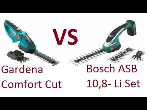 bosch asb 10 8 li set vs gardena comfortcut youtube. Black Bedroom Furniture Sets. Home Design Ideas