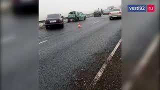 В Крыму произошло массовое ДТП из-за плохой погоды