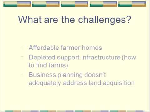 Land Access for Beginning Farmers Part 1