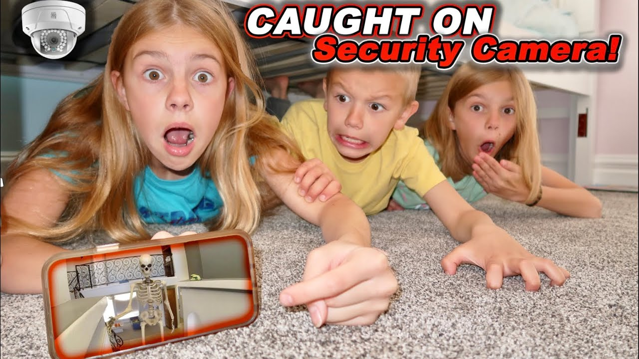 Download Caught On Security Camera 12 Foot SKELETON Inside Tannerites HOUSE While Playing Hide N Seek!