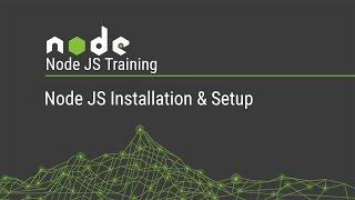 Node JS Training series