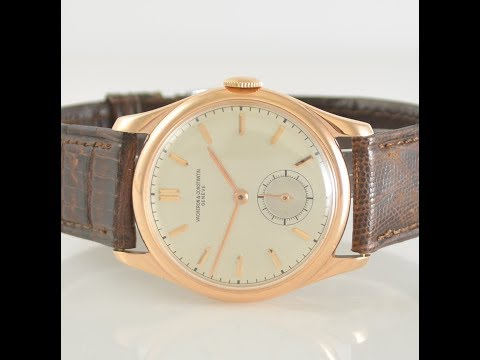 Vacheron & Constantin Vintage 18k Pink Gold Wristwatch