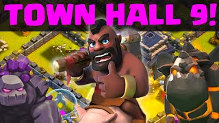Clash of Clans - Town Hall 9 THREE STAR War Attack Strategies!