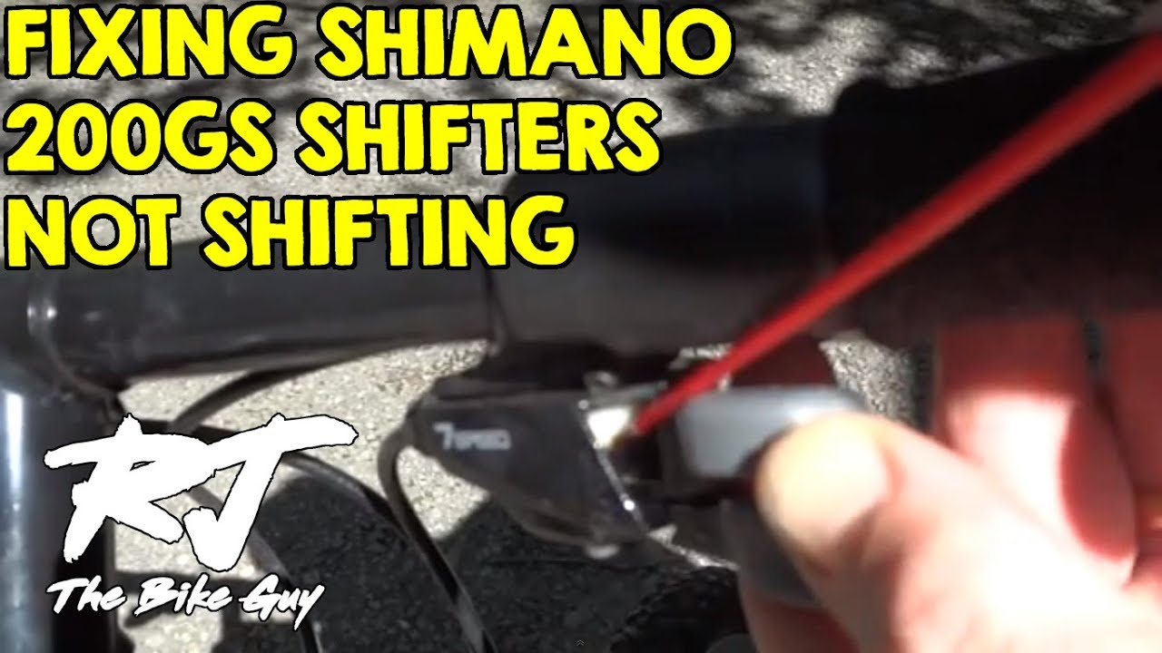 How To Fix Shimano 200gs Trigger Shifters Super Easy