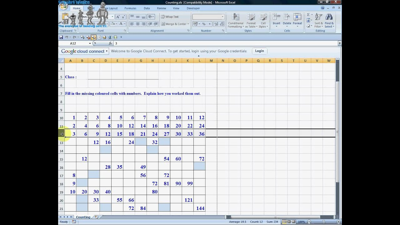 Counting multiplication table youtube counting multiplication table gamestrikefo Choice Image