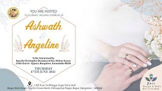 Wedding Ceremony of Ashwath & Angeline | 17th June 2021 |My El-Shaddai Tv