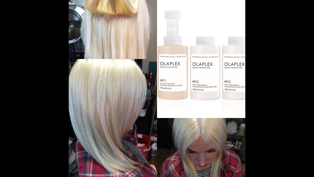 Olaplex Treatment Damaged Hair to Healthy Hair