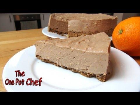 No Bake Chocolate Orange Cheesecake | One Pot Chef
