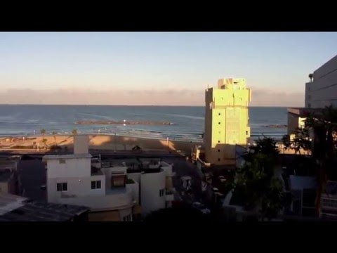 Tel Aviv skyline early morning, afternoon and evening 2011