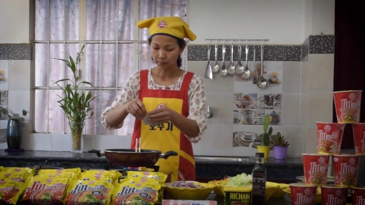best way of cooking fried jin ramen noodles // learn how