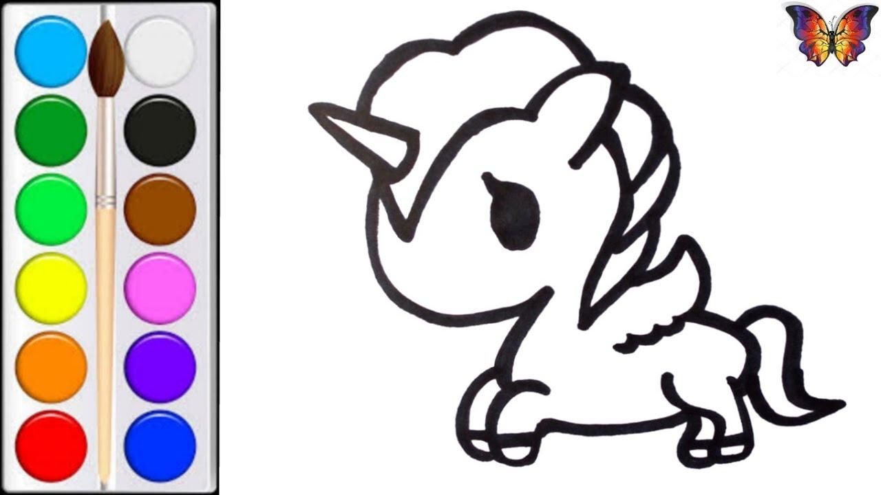 Как нарисовать ЕДИНОРОГА / мультик раскраска ЕДИНОРОГ для ...