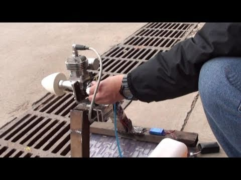 Breaking In 20cc Rc Plane Gasoline Engine Youtube