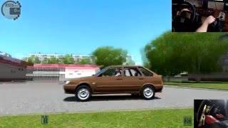 City Car Driving  ВАЗ 2114 и Lada Granta   тест драйв, обзор русских автомобилей Logitech G27