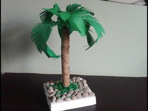 Palm tree. How to make a paper palm tree . Diy home decor
