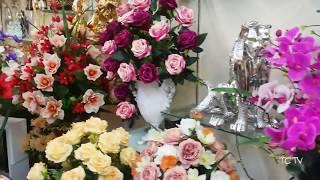 Bình hoa lụa 14 củ..., hoa lụa cao cấp nhất thành phố