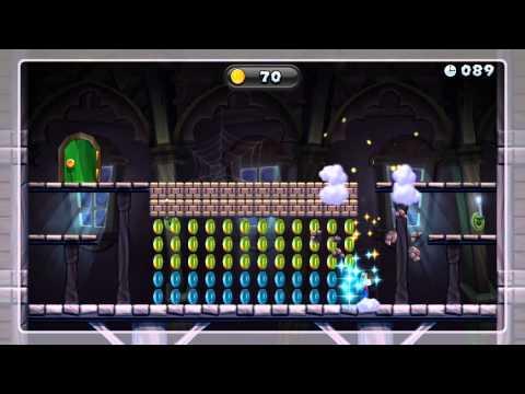 Ghost House Coin Curse Gold Medal - New Super Mario Bros. U (151 Coins)