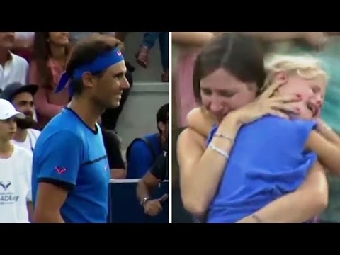 Thumbnail: Rafael Nadal stops the match | For a mom who lost her child | RESPECT