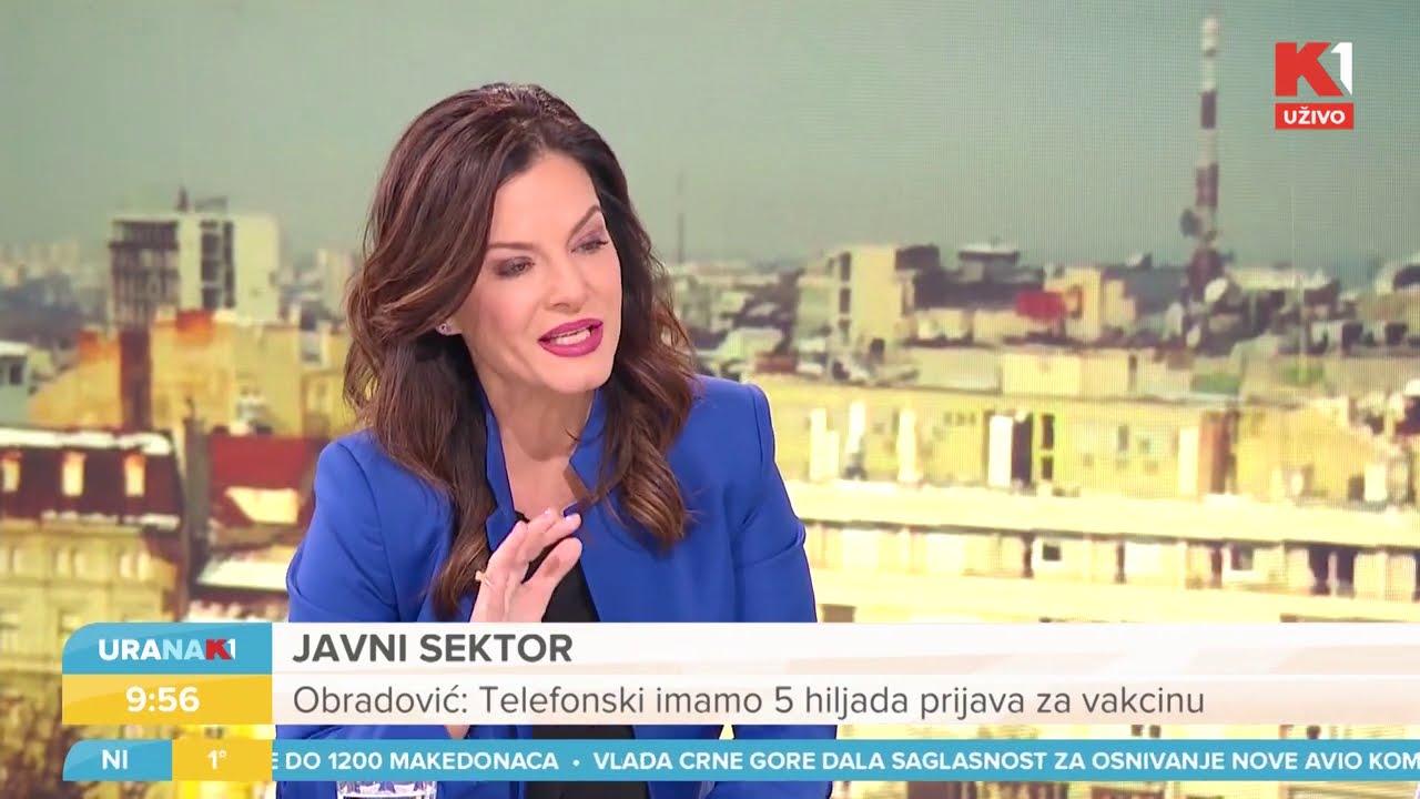 URANAK1 | Prijave za imunizaciju | Reforma javne uprave | ministarka Marija Obradović