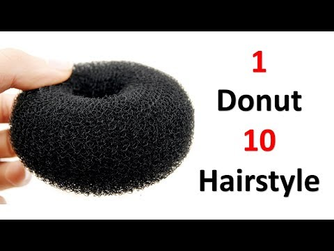 1 donut 10 hairstyle | ladies hair style | beautiful hairstyle | prom hairstyle | hair style girl thumbnail