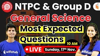 RRB NTPC & Group D 2019 | General Science (GS) | Most Expected Questions