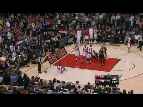 Luol Deng Game-Winning Shot Raptors-Bulls 1-16 -13