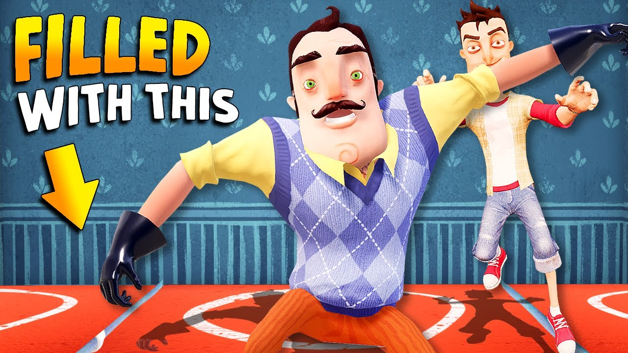 Filling The Neighbor's House ENTIRELY WITH TRAMPOLINES!!! | Hello Neighbor Gameplay (Mods)