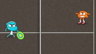Удивительный мир Гамбола: Дисковая дуэль (The Amazing World of Gumball: Disc Duel) // Геймплей