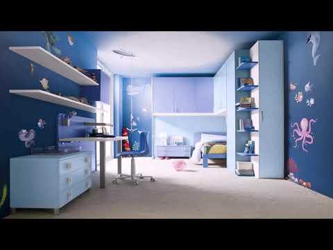 House Interior Design Blue Bedroom