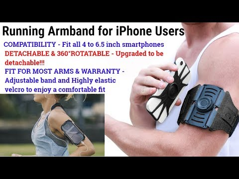 Running Armband For IPhone Users - With All Screen Friendly, Detachable & 360°Rotatable