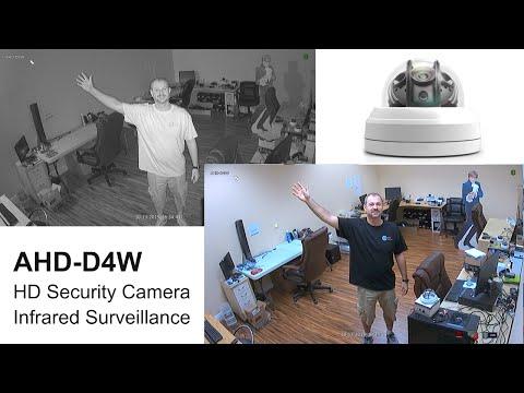 AHD-D4W HD Surveillance Camera Infrared Video Demo