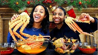 King Crab Seafood Boil! Teen Eating Show!