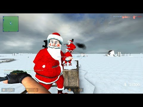 Counter-Strike Source Zombie Mod Gameplay with XMAS Skins on Siberia map